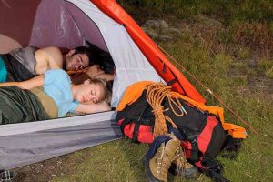 comfortable ways to sleep in a tent